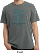 Ovarian Cancer Hope Love Cure Pigment Dyed T-shirt