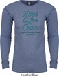 Ovarian Cancer Hope Love Cure Thermal Shirt