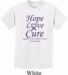 Pancreatic Cancer Hope Love Cure Kids T-shirt
