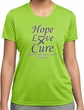 Pancreatic Cancer Hope Love Cure Ladies Dry Wicking T-shirt