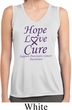Pancreatic Cancer Hope Love Cure Ladies Dry Wicking Tank Top