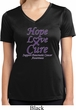 Pancreatic Cancer Hope Love Cure Ladies Dry Wicking V-neck