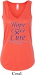 Pancreatic Cancer Hope Love Cure Ladies Flowy V-neck Tank Top