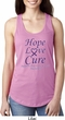 Pancreatic Cancer Hope Love Cure Ladies Ideal Racerback