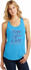 Pancreatic Cancer Hope Love Cure Ladies Racerback