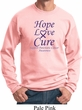 Pancreatic Cancer Sweatshirt Hope Love Cure Sweat Shirt