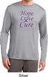 Pancreatic Cancer Tee Hope Love Cure Dry Wicking Long Sleeve