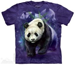 Panda CollageT-shirt Tie Dye Adult Tee
