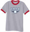 PaPa Ringer T-shirt - Grandpa Grandfather Dad Father Adult Tee