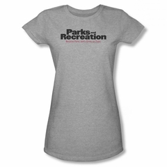 Parks And Recreation Shirt Juniors Logo Athletic Heather T-Shirt