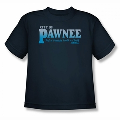 Parks And Recreation Shirt Kids Pawnee Navy T-Shirt