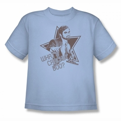 Parks And Recreation Shirt Kids Whats Crackin Light Blue T-Shirt