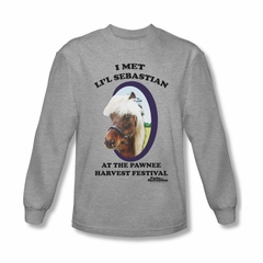 Parks And Recreation Shirt Lil Sebastian Long Sleeve Athletic Heather Tee T-Shirt