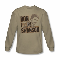 Parks And Recreation Shirt Ron Long Sleeve Sand Tee T-Shirt