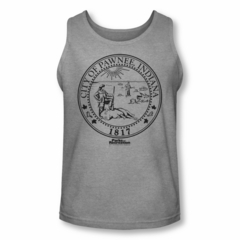 Parks And Recreation Shirt Tank Top City Seal Silver Tanktop