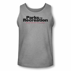 Parks And Recreation Shirt Tank Top Logo Athletic Heather Tanktop