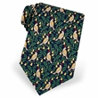 Partridge In A Pear Tree Navy Silk Tie Necktie Men's Holiday Neck Tie