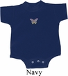 Pastel Butterfly Patch Small Print Baby Romper