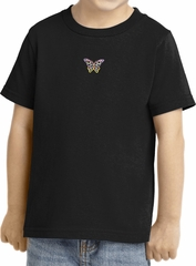 Pastel Butterfly Patch Small Print Toddler T-shirt