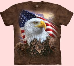 Independence Eagle Patriotic Tie Dye T-shirt