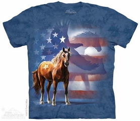 Patriotic Wild Animals Shirt Tie Dye Adult T-Shirt Tee