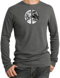 Peace Earth Long Sleeve Thermal T-Shirts