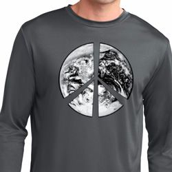 Peace Earth Mens Dry Wicking Long Sleeve Shirt