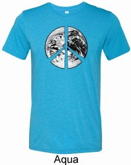 Peace Earth Mens Tri Blend Crewneck Shirt