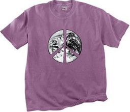 Peace Earth Pigment Dyed T-shirts