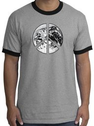 Peace Earth Ringer T-shirts