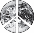 PEACE EARTH Sign Symbol 100% Organic Cotton Adult T-shirt - Natural