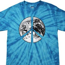 Peace Earth Spider Tie Dye Shirt