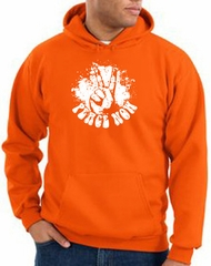 Peace Hoodie Peace Now Retro Hoody Orange
