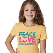 Peace Love Gymnastics Kids Gymnastics Shirts
