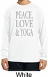 Peace Love & Yoga Kids Dry Wicking Long Sleeve Shirt