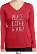 Peace Love & Yoga Ladies Dry Wicking Long Sleeve Shirt