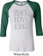 Peace Love & Yoga Ladies Raglan Shirt