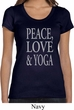 Peace Love & Yoga Ladies Scoop Neck Shirt