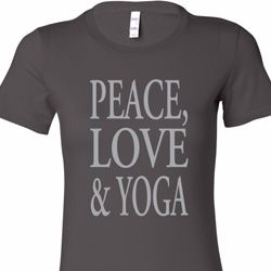 Peace Love & Yoga Ladies Yoga Shirts