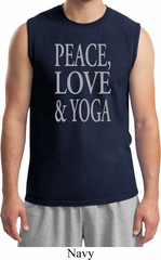 Peace Love & Yoga Mens Muscle Shirt