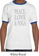 Peace Love & Yoga Mens Ringer Shirt