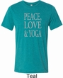Peace Love & Yoga Mens Tri Blend Crewneck Shirt