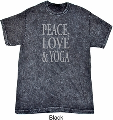 Peace Love & Yoga Mineral Tie Dye Shirt