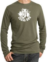 Peace Now Retro Long Sleeve Thermal T-Shirts