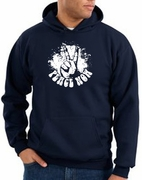 Peace Now Retro Pullover Hooded Sweatshirts