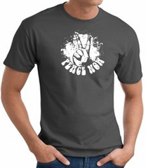 Peace Now Retro Vintage Classic Style T-shirt - Charcoal