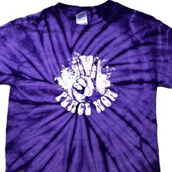 Peace Now Spider Tie Dye Shirt
