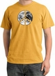 Peace Shirt Peace Earth Satellite Image Pigment Dyed Tee Mustard