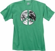 Peace Shirt Peace Earth Satellite Image Pigment Dyed Tee Piper Green