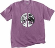 Peace Shirt Peace Earth Satellite Image Pigment Dyed Tee Plum